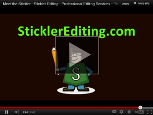 Meet the Stickler - Professional Editor and Proofreader at SticklerEditing.com